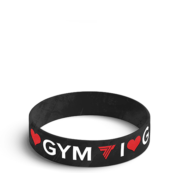 I LOVE GYM - WRISTBAND 003/BLACK