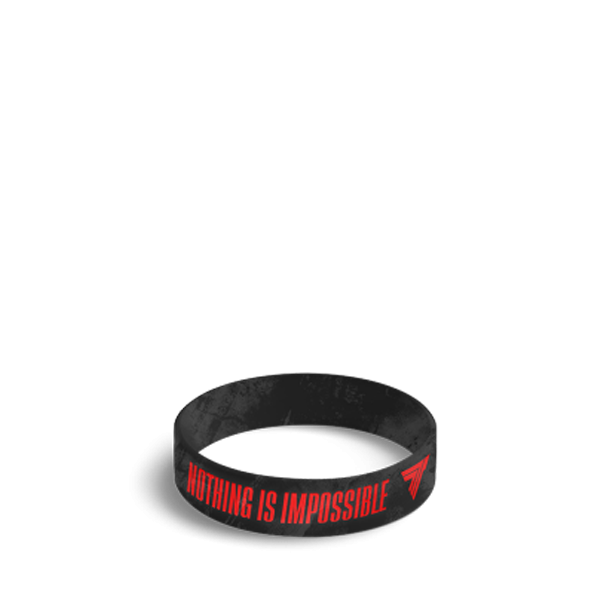 NOTHING IS IMPOSSIBLE - WRISTBAND 042/BLACK