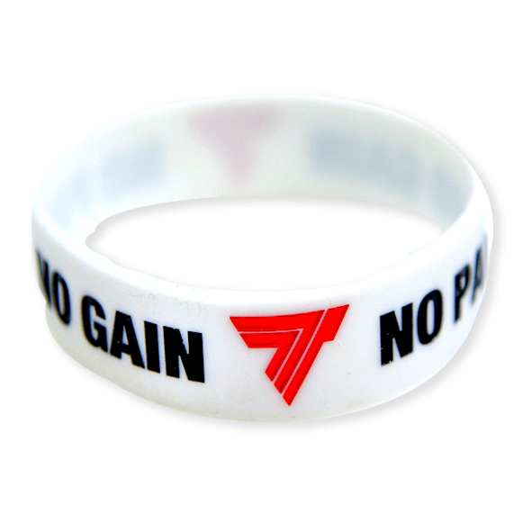 NO PAIN NO GAIN - WRISTBAND 001/WHITE