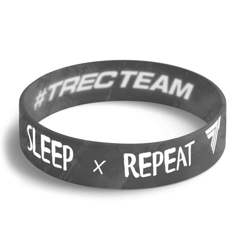 EAT SLEEP TRAIN - WRISTBAND 004 BLACK