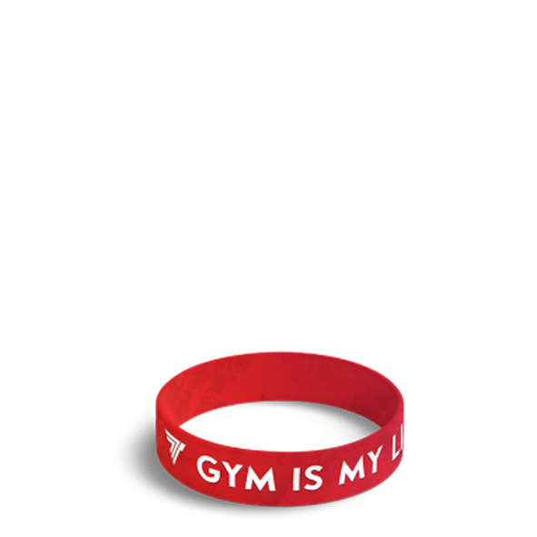 GYM IS MY LIFE - WRISTBAND 033/RED