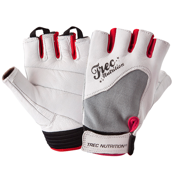 WOMEN'S - FITNESS - GLOVES - WHITE-GRAY